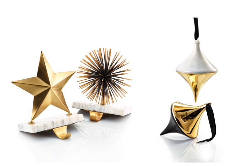 I typically go all white with my holiday décor but a great option is a trend I am seeing this year towards black and gold. I love the idea of gifting someone a tree decoration with a special note attached; or filling a stocking with some of their favourite goodies and hanging their gift right on their mantel with this great marble stocking holder from Lowe's. These items are part of the Lowe's Opuluxe holiday trend. They also have some fantastic black and gold ornaments and lanterns this year.